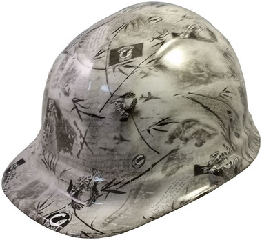 POW Hydro Dipped GLOW IN THE DARK Hard Hats Cap Style with Ratchet Suspensions