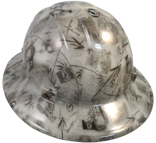 ... POW Hydro Dipped GLOW IN THE DARK Hard Hats Full Brim Style with Ratchet  Suspensions. Image 1. Loading zoom 84451d9fcc78