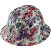 Flower Hydro Dipped GLOW IN THE DARK Hard Hats Full Brim Style with Ratchet Suspensions