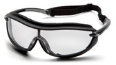 Pyramex XS3 Plus Safety Glasses ~ Black Frame - Clear Anti-Fog Lens