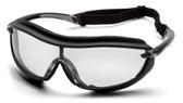 Pyramex XS3 Plus Safety Glasses ~ Black Frame - Clear Anti-Fog Lens