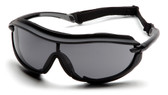 Pyramex XS3 Plus Safety Glasses ~ Black Frame - Gray Anti-Fog Lens