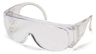 Pyramex Solo Jumbo Safety Glasses ~ Clear Lens