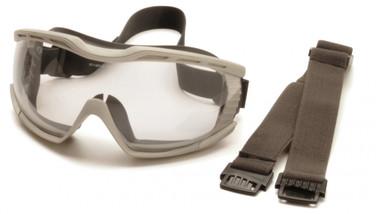 Pyramex Capstone Goggles with two straps