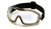 Pyramex Capstone ~ Low Profile Goggles ~ Clear Lens