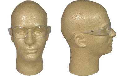 ERB Boas Wraparounds ~ Safety Glasses ~ Clear Frame - Clear Lens