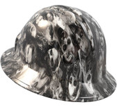 Real Zombie Hydro Dipped Hard Hats Full Brim Style - White