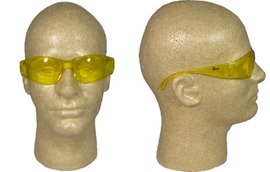 ERB Boas Wraparounds ~ Safety Glasses ~ Amber Lens