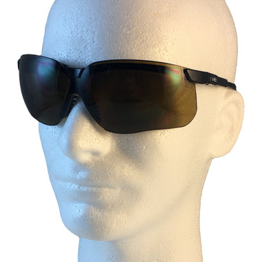 Uvex Genesis Safety Glasses ~ Black Frame ~ Espresso Lens