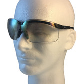 Uvex Genesis Safety Glasses ~ Black Frame ~ Indoor Outdoor Lens