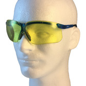 Uvex Genesis Safety Glasses ~ Vapor Blue Frame ~ Amber Lens