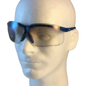 Uvex Genesis Safety Glasses ~ Vapor Blue Frame ~ IO Lens