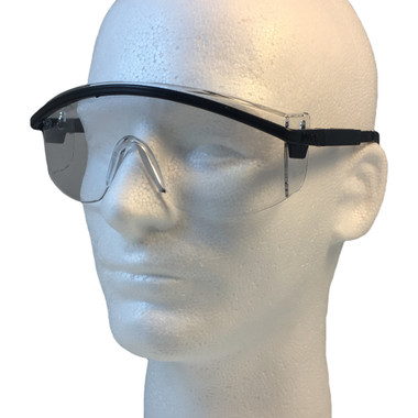 Uvex Astrospec 3000 Glasses ~ Black Frame ~ Clear Lens
