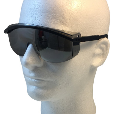 Uvex Astrospec 3000 Glasses ~ Black Frame ~ Mirror Lens