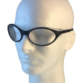 Uvex Bandit Safety Glasses ~ Black Frame ~ Clear Lens