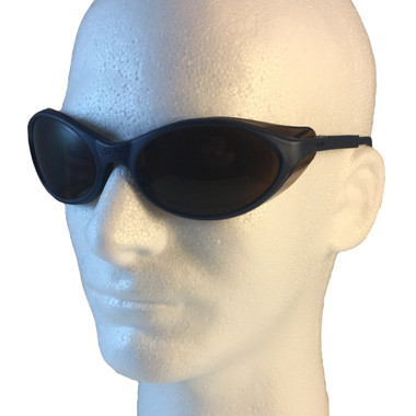 Uvex Bandit Safety Glasses ~ Blue Frame ~ Espresso Lens