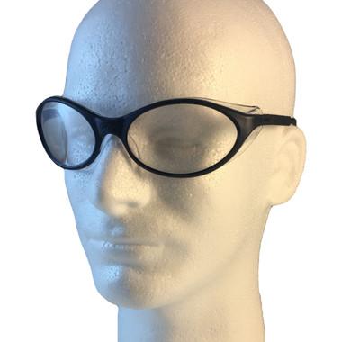 Uvex Bandit Safety Glasses ~ Blue Frame ~ Clear Lens