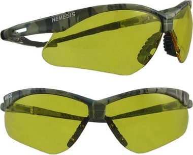 Jackson Nemesis CAMO Frame ~ Safety Glasses with Amber Anti-Fog Lens