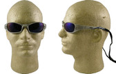 AO Safety Glasses Fuel Series  Silver Mirror Frame with Blue Mirror Lens