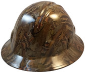 Confederate Camo Hydro Dipped Hard Hats Full Brim Style ~ Oblique View