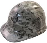 POW Gray Hydro Dipped Hard Hats Cap Style