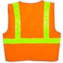 Orange Vest ~ Lime Stripes ~ SOLID Material ~ Size Medium