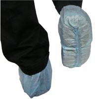 Polypropylene Shoe Covers, Blue Bottom View