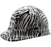 Zebra White Hydro Dipped Cap Style Hard Hat pic 1