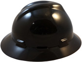 MSA V-Gard Full Brim Hard Hats with Fas-Trac Suspensions Black