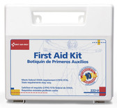 OSHA Compliant First Aid Kits ~ 10 Person, 62 Piece Bulk Kit, Plastic Case with Dividers