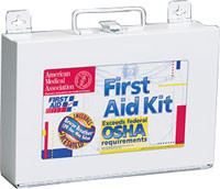 OSHA Compliant First Aid Kits ~ 25 Person, 106 Piece Bulk Kit, Metal Case