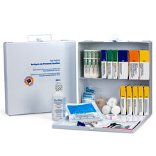 OSHA Compliant First Aid Kits ~ 50 Person, 196 Piece Bulk Kit, Metal Case