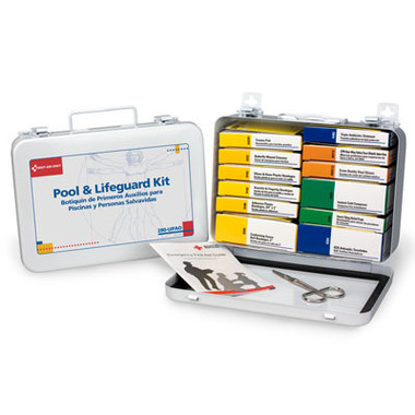 Pool & Lifeguard First Aid Kit ~ 16 Unit, 99-Piece Kit, Metal Case