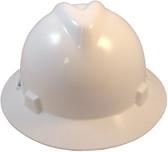 MSA V-Gard Full Brim Hard Hats with Staz On Suspensions White