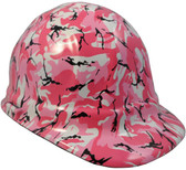 Pink Camo Hydro Dipped Hard Hats Cap Style