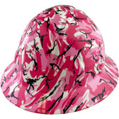 Pink Camo Hydro Dipped Hard Hats Full Brim Style