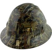 Oilfield Camo White Hydro Dipped Hard Hats Full Brim Style