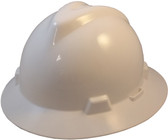 MSA V-Gard Full Brim Hard Hats with One-Touch Suspensions White
