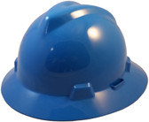 MSA V-Gard Full Brim Hard Hats with One-Touch Suspensions Blue
