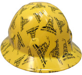 Don't Tread on Me Yellow Hydro Dipped Hard Hats Full Brim Style