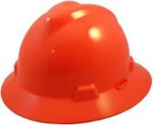 MSA V-Gard Full Brim Hard Hats with One-Touch Suspensions Hi Viz Orange