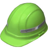 White 360 Degree Wrap Around Hard Hat Stickers Pic 1