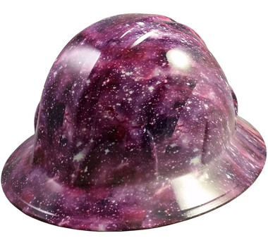 Galaxy Design Hydro Dipped Hard Hats Full Brim Style
