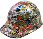 Sticker Bomb 4 Design Hydro Dipped Hard Hats Cap Style Design
