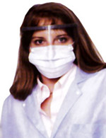 Combo Ear Loop Mask and Eye Shield (100 per case)  pic 1