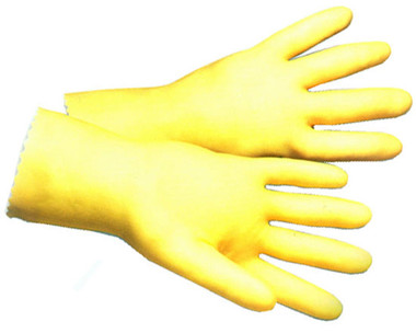 Latex Unlined 17 Mil Glove w/ 12 inch length Pic 1