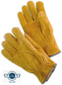 Unlined Grain Cowhide Work Gloves Pic 1