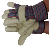 Premium Pigskin Gloves w/ Thinsulate Lining Safety Cuffs Pic 1