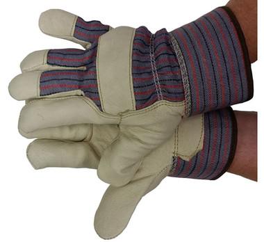 Premium Pigskin Gloves w/ Thinsulate Lining Safety Cuffs Pic 1