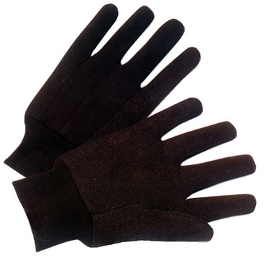 9 Ounce Brown Jersey Gloves Pic 1